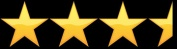 three and one half stars rating